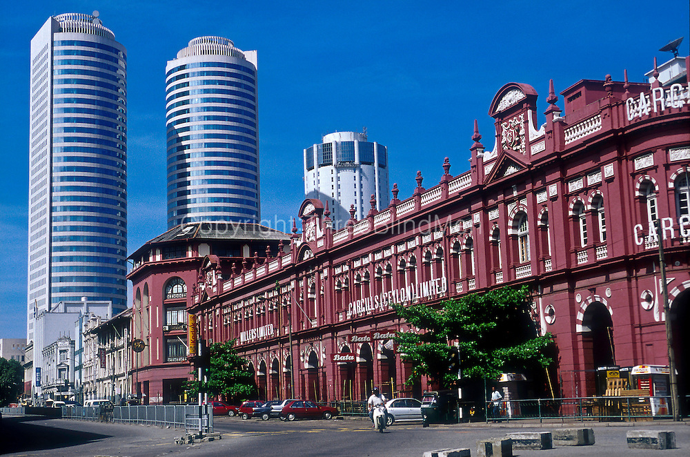 Cargills Building and the World Trade Centre. Colombo.