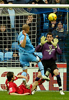 Photo: Ed Godden/Sportsbeat Images.<br />Coventry City v Cardiff City. Coca Cola Championship. 10/02/2007. Coventry's Leon McKenzie puts the ball over the bar.