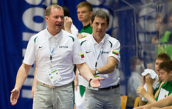 Kazys Maksvytis, head coach of Lithuania during basketball match between National teams of Slovenia and Lithuania in First Round of U20 Men European Championship Slovenia 2012, on July 14, 2012 in Domzale, Slovenia.  (Photo by Vid Ponikvar / Sportida.com)