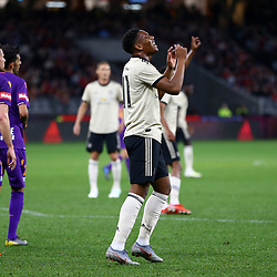 Anthony Martial of Manchester United rues a missed chance