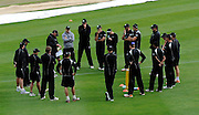New Zealand Cricket team gather together, Black Caps Training Session, at the University oval, Dunedin, New Zealand. Thursday 2 February 2012 . Photo: Richard Hood photosport.co.nz