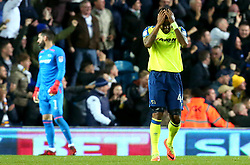 Tom Huddlestone of Derby County cuts a frustrated figure after his side concede a goal - Mandatory by-line: Robbie Stephenson/JMP - 31/10/2017 - FOOTBALL - Elland Road - Leeds, England - Leeds United v Derby County - Sky Bet Championship