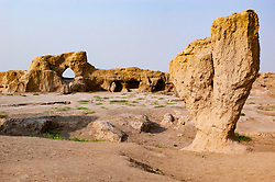 Gaochang ruined city in Turpan, Xinjiang, China