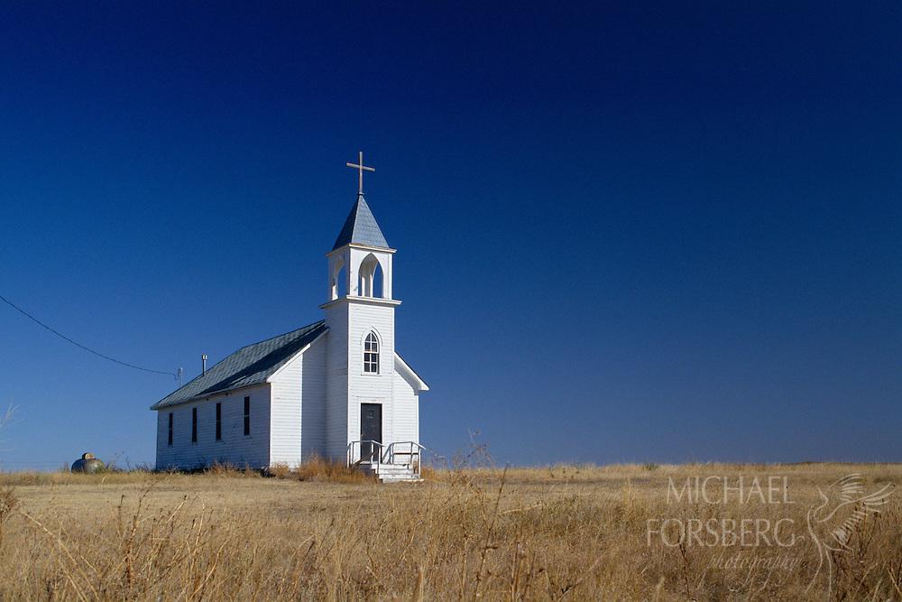 Country church. Pine Ridge Indian Reservation, South Dakota.