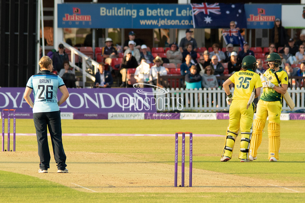 Australia win the  Royal London Women's One Day International match between England Women Cricket and Australia at the Fischer County Ground, Grace Road, Leicester, United Kingdom on 2 July 2019.