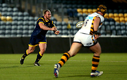 Mike Daniels of Worcester Cavaliers passes the ball - Mandatory by-line: Robbie Stephenson/JMP - 03/04/2017 - RUGBY - Sixways Stadium - Worcester, England - Worcester Cavaliers v Wasps A - Aviva A League