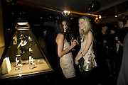SALONI LODHA AND POPPY DELAVIGNE, Party to launch CARAT a new diamond brand, Kitts. Sloane sq. London. 20 December 2007.  -DO NOT ARCHIVE-© Copyright Photograph by Dafydd Jones. 248 Clapham Rd. London SW9 0PZ. Tel 0207 820 0771. www.dafjones.com.