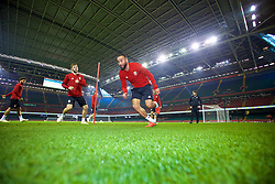 CARDIFF, WALES - Wednesday, October 10, 2018: Wales' Ashley 'Jazz' Richards during a training session at the Principality Stadium ahead of the International Friendly match between Wales and Spain. (Pic by David Rawcliffe/Propaganda)