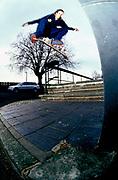 Skater Barry Dring switch flip