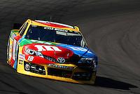 Mar 2, 2013; Avondale, AZ, USA; NASCAR Sprint Cup Series driver Kyle Busch (18) during practice for the Subway Fresh Fit 500 at Phoenix International Raceway.