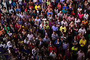 Spectators watch from the Epicentre to a live speech given by Pres. Bill Clinton during the 2012 Democratic National Convention on Wednesday, September 5, 2012 in Charlotte, NC.