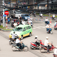 Traffic in downtown Saigon (Ho chi minh city), Vietnam