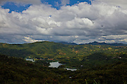 View of Lake Toa Vaca and the Cordillera Central region of Puerto Rico