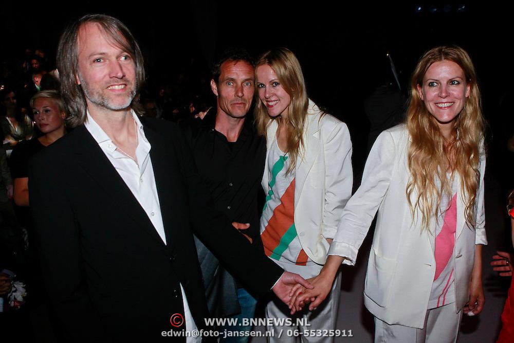 NLD/Amsterdam/20110713 - AIFW 2011 Summer, show Tony Cohen, ontwerpsters Spijker & Spijker met hun partners