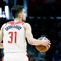 09 December 2017: Washington Wizards guard Tomas Satoransky (31) brings the ball up court during the LA Clippers 113-112 victory over the Washington Wizards, at the Staples Center, Los Angeles, California, USA.