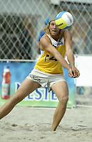 Volleyball, Sandvolleyball, World Tour Stavanger, Grand Slam, 29/06-05,<br />Magnusson, Sverige,<br />Foto: Sigbjørn Andreas Hofsmo, Digitalsport