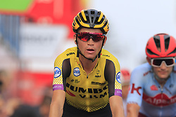 Team Jumbo-Visma rider crosses the finish line at the end of Stage 3 of La Vuelta 2019 running 188km from Ibi. Ciudad del Juguete to Alicante, Spain. 26th August 2019.<br /> Picture: Eoin Clarke | Cyclefile<br /> <br /> All photos usage must carry mandatory copyright credit (© Cyclefile | Eoin Clarke)