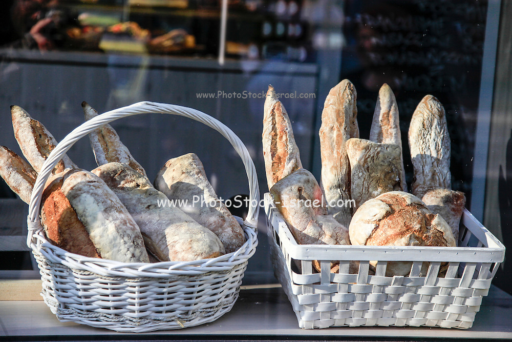 Freshly baked whole wheat bread. Photographed in Warsaw, Poland