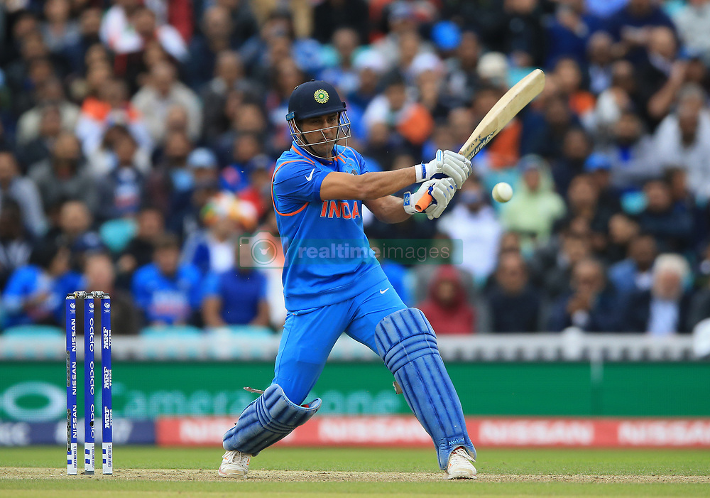 India's MS Dhoni during the ICC Champions Trophy, Group B match at The Oval, London.
