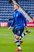 Preston North End Tom Clarke (captain) (5) warms up during the EFL Sky Bet Championship match between Preston North End and Sheffield Utd at Deepdale, Preston, England on 16 December 2017. Photo by Michał Karpiczenko.