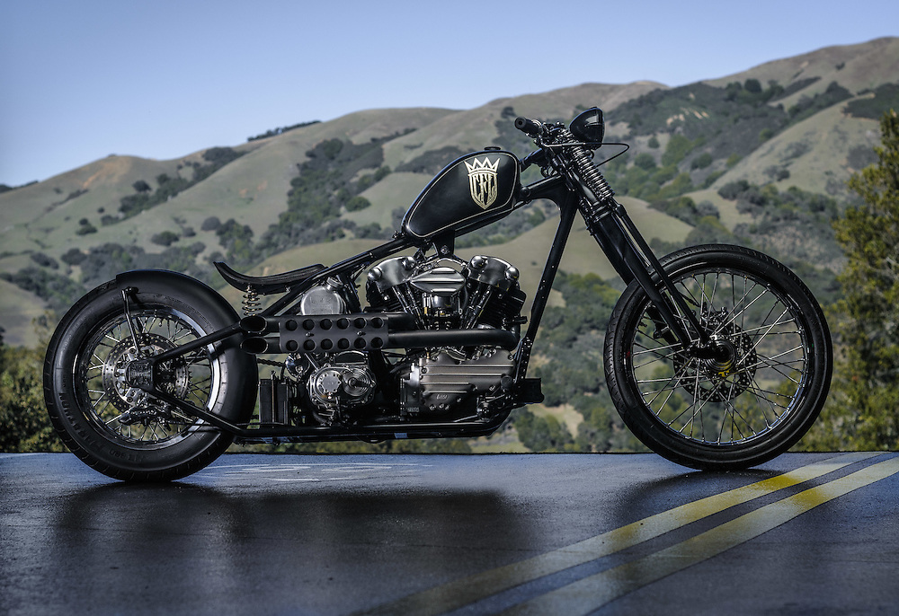 CFL knucklehead chopper in Northen California   personal collection of James Hetfield