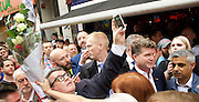 Vigil for the people murdered in the Pulse Club shooting in Orlando Florida by Omar Mateen<br /> in Old Compton Street, London, Great Britain <br /> 13th June 2016 <br /> <br /> with Sadiq Khan <br /> Mayor of London <br /> <br /> Tom Watson taking a selfie <br /> <br /> <br /> Jeremy Corbyn <br /> Leader of the labour Party <br /> <br /> Matthew Barzun  - United States Ambassador to the United Kingdom<br /> Ambassador of the United States <br /> <br /> Photograph by Elliott Franks <br /> Image licensed to Elliott Franks Photography Services