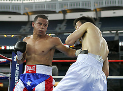 June 5, 2010; Bronx, NY; USA;  Jorge Diaz and Jae Sung Lee fight at Yankee Stadium in Bronx, NY.  Diaz won via 6th round stoppage.