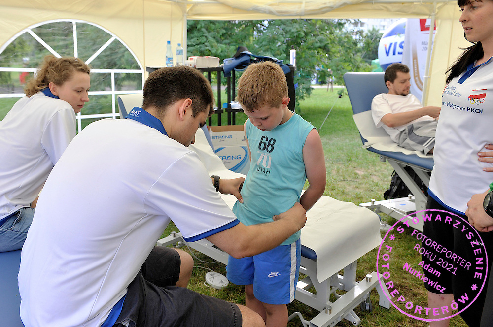 EXPOSITION OF CAROLINA MEDICAL CENTER DURING OLYMPIC PICNIC OF POLISH OLYMPIC COMMITTEE IN KEPA POTOCKA PARC IN WARSAW...WARSAW , POLAND , JUNE 12, 2010..( PHOTO BY ADAM NURKIEWICZ / MEDIASPORT )