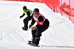MASSIE Alex, SB-LL2, CAN, SUUR-HAMARI Matti, FIN, Snowboard Cross at the WPSB_2019 Para Snowboard World Cup, La Molina, Spain