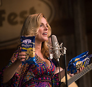 Rhonda Vincent Plays on the Watson Stage