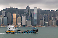 Victoria harbour, Hong Kong.