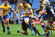 Bath lock Elliott Stooke (4) during the Gallagher Premiership Rugby match between Wasps and Bath Rugby at the Ricoh Arena, Coventry, England on 2 November 2019.