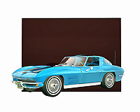 Without a doubt, a Stingray is one of the coolest cars to ever hit the road. This vintage classic automobile means the world to people from a certain time and place. If you consider yourself to be one of those people, you need to add this digital painting to your space immediately. .<br />