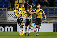 Onderwerp/Subject: NAC Breda - Eredivisie<br /> Reklame:  <br /> Club/Team/Country: <br /> Seizoen/Season: 2012/2013<br /> FOTO/PHOTO: Nemanja GUDELJ (R) of NAC Breda celebrating his goal with Jordy BUIJS (C) of NAC Breda and Jens JANSE (L) of NAC Breda ( 2 - 1 ). (Photo by PICS UNITED)<br /> <br /> Trefwoorden/Keywords: <br /> #02 $94 ±1342772543138 ±1342772543138<br /> Photo- & Copyrights © PICS UNITED <br /> P.O. Box 7164 - 5605 BE  EINDHOVEN (THE NETHERLANDS) <br /> Phone +31 (0)40 296 28 00 <br /> Fax +31 (0) 40 248 47 43 <br /> http://www.pics-united.com <br /> e-mail : sales@pics-united.com (If you would like to raise any issues regarding any aspects of products / service of PICS UNITED) or <br /> e-mail : sales@pics-united.com   <br /> <br /> ATTENTIE: <br /> Publicatie ook bij aanbieding door derden is slechts toegestaan na verkregen toestemming van Pics United. <br /> VOLLEDIGE NAAMSVERMELDING IS VERPLICHT! (© PICS UNITED/Naam Fotograaf, zie veld 4 van de bestandsinfo 'credits') <br /> ATTENTION:  <br /> © Pics United. Reproduction/publication of this photo by any parties is only permitted after authorisation is sought and obtained from  PICS UNITED- THE NETHERLANDS