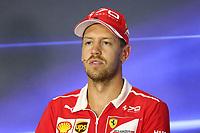 Monza - Formula 1 - Gran Premio d' Italia di Formula 1 - Nella foto: Sebastian Vettel in conferenza stampa