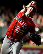 Los Angeles Angels starting pitcher Jered Weaver delivers in the first inning of a baseball game against the Houston Astros, Saturday, July 23, 2016, in Houston. (AP Photo/Eric Christian Smith)