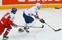 Benjamin Dieude Fauvel - 07.05.2015 - Republique Tcheque / France - Championnat du Monde de Hockey sur Glace <br /> Photo : Xavier Laine / Icon Sport