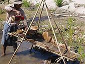 Gold panning in Kachin State