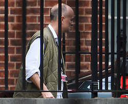 © Licensed to London News Pictures. 09/09/2019. London, UK. Dominic Cummings, advisor to PM Boris Johnson, is seen leaving Downing Street in Westminster, London to head to parliament. British Prime Minister Boris Johnson os expected to prorogue Parliament this evening, in the run up to Britain's planned Brexit deadline of October 31st. Photo credit: Ben Cawthra/LNP