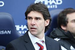 Middlesbrough Manager Aitor Karanka  - Photo mandatory by-line: Matt McNulty/JMP - Mobile: 07966 386802 - 24/01/2015 - SPORT - Football - Manchester - Etihad Stadium - Manchester City v Middlesbrough - FA Cup Fourth Round
