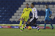 Ben Tozer and Byron Moore  during the EFL Sky Bet League 2 match between Bury and Cheltenham Town at the JD Stadium, Bury, England on 27 November 2018.