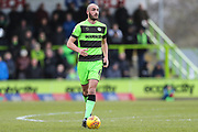 Forest Green Rovers Farrend Rawson(6) on the ball during the EFL Sky Bet League 2 match between Forest Green Rovers and Notts County at the New Lawn, Forest Green, United Kingdom on 9 February 2019.