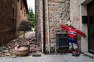 Visso, Italia - La zona rossa del paese di Visso.<br /> Ph. Roberto Salomone