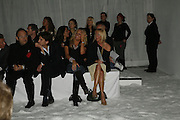 Sarah Bosnich and Faye tozer,  DENIS SIMACHEV SHOWCASES AUTUMN/WINTER 06 MENSWEAR & WOMENSWEAR COLLECTIONS<br />AT CHELSEA FOOTBALL CLUB. Supported by Vogue Russia<br />11 April 2006. ONE TIME USE ONLY - DO NOT ARCHIVE  © Copyright Photograph by Dafydd Jones 66 Stockwell Park Rd. London SW9 0DA Tel 020 7733 0108 www.dafjones.com