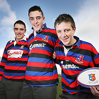 St Munchins Students Evan,Gavin and Darren Ryan,Meelick who have played Rugby for St Munchins in the Junior Cup.Their Father Ray also played for St Munchins in the Junior and Senior Cups.<br /><br />Photograph by Eamon Ward
