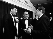 18/01/1989<br /> 01/18/1989<br /> 18 January 1989<br /> Texaco Sportstars of the Year Awards 1988 at the Burlington Hotel, Dublin. At the event were Packie Bonner (Goalkeeper Ireland and Celtic); Mr. Vincent O'Brien, Managing Director of Texaco (Ireland) Ltd. and Mr. Ray Burke T.D. (right), Minister for Industry and Commerce.