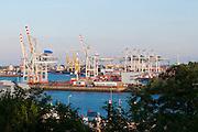 Containerhafen, Hamburger Hafen, Hamburg, Deutschland.|.Hamburg Harbour, container port, Hamburg, Germany.