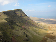 Picws Du (Bannau Sir Gaer) seen from Fan Foel, West Brecon Beacons Mountains, Wales