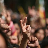"""Mexico, D.F.- Miles de simpatizantes de Andres Manuel Lopez Obrador que le reconocen como Presidente """"Legitimo"""" de Mexico, participan en una marcha pacifica hacia Chapultepec en protesta por la toma de posesion del presidente electo, Felipe Calderon Hinojosa. Agencia MVT / Mario Vazquez de la Torre. (DIGITAL)<br /> <br /> <br /> <br /> <br /> <br /> <br /> <br /> NO ARCHIVAR - NO ARCHIVE"""
