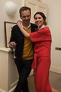 VALERIA NAPOLEONE; TOM DIXON,, Stefania Pramma launched her handbag brand PRAMMA  at the Kensington residence of her twin sister, art collector Valeria Napoleone.. London.  29 April 2015